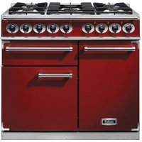 Falcon F1000DXDFRD/NM F1000 Deluxe Dual Fuel Range Cooker - RED