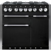 Mercury MCY1000DFAB 93130 100cm Dual Fuel Range Cooker - BLACK