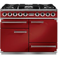 Falcon F1092DXDFRD/NM 1092 Deluxe Dual Fuel Range Cooker - RED