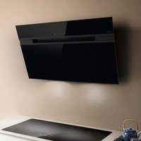 Elica ASCENT LED 60 BL 60cm Decorative Angled Chimney Hood - BLACK