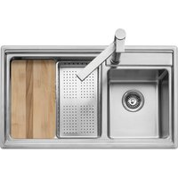 Caple AXL175 Axle 175 1.5 Bowl Inset Sink Right Hand Small Bowl - STAINLESS STEEL