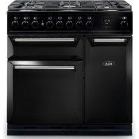 AGA Masterchef MDX90DFBLK Masterchef Deluxe 90cm Dual Fuel Range Cooker 121230 - BLACK