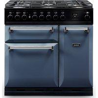 AGA Masterchef MDX90DFDAR Masterchef Deluxe 90cm Dual Fuel Range Cooker - DARTMOUTH BLUE