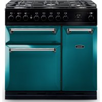 AGA Masterchef MDX90DFSAL Masterchef Deluxe 90cm Dual Fuel Range Cooker - SALCOMBE BLUE