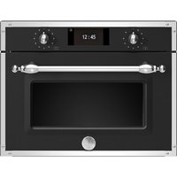 Bertazzoni F457HERMWTNE Heritage Series Built In Combination Microwave - BLACK