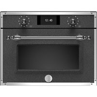 Bertazzoni F457HERVTND Heritage Series Compact Steam Combination Oven - BLACK