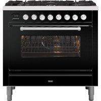 Ilve P096WE3BK 90cm Roma Dual Fuel Single Oven Range Cooker - BLACK