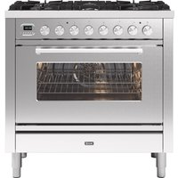 Ilve P096WE3SS 90cm Roma Dual Fuel Single Oven Range Cooker - STAINLESS STEEL