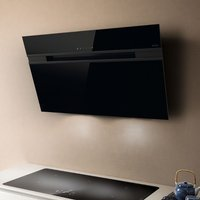 Elica ASCENT LED 80 BLK 80cm Decorative Chimney Hood - BLACK