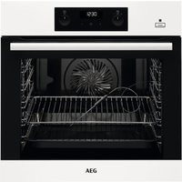 AEG BEB355020W Built In SteamBake Multifunction Single Oven - WHITE