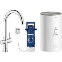 Grohe 30058001 Red Duo Instant Boiling Water Tap and M Size Boiler - CHROME