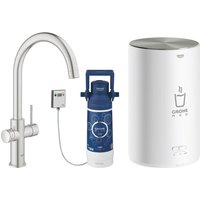 Grohe 30058DC1 Red 2.0 Duo Instant Boiling Water Tap and M Size Boiler - STAINLESS STEEL