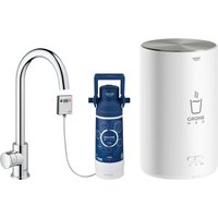 Grohe 30060001 Red Mono Pillar Instant Boiling Water Tap and M Size Boiler - CHROME