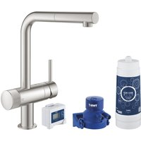 Grohe 30382DC0 Blue Pure Minta Filtered Pull-Out Spray Tap - STAINLESS STEEL