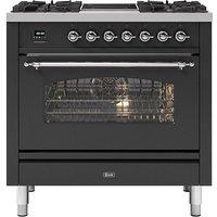 Ilve P09INE3MG 90cm Milano Mixed Fuel Single Oven Range Cooker - GRAPHITE