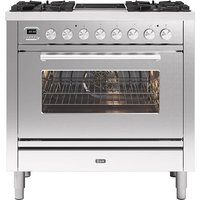 Ilve P09IWE3SS 90cm Roma Mixed Fuel Single Oven Range Cooker - STAINLESS STEEL