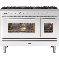 Ilve P128WE3SS 120cm Roma Dual Fuel Range Cooker - STAINLESS STEEL