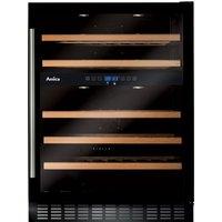 Amica AWC601BL 60cm Freestanding Under Counter Wine Cooler - BLACK