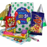 Fabulous Personalised Party Bags for Boys - Green Polka
