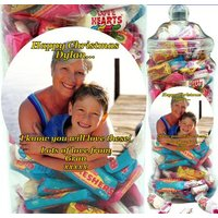 It's A Foot Of Sweets! Jumbo Personalised Jar Of Swizzels Sweetshop Retro Classics