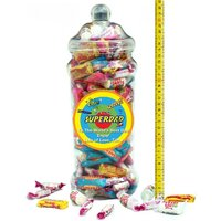It's A Foot Of Sweets! Jumbo Personalised Jar Of Swizzels Sweetshop Chewy Classics