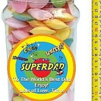 It's A Foot Of Sweets! Jumbo Personalised Jar Of Flying Saucers
