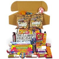 Personalised Cartoony Box Of The Best Retro Sweets Ever