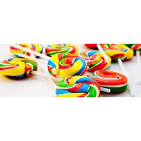 Disco Pop Swirly Lollies - Lollies Gifts
