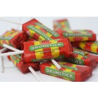 Drumstick Lolly Sweets - Original Raspberry and Milk Flavour