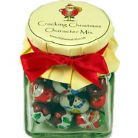 Glass Gift Jar - Cracking Christmas Character Mix