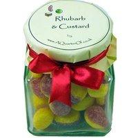 Glass Gift Jar of Rhubarb and Custard