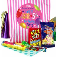 Fabulous Personalised Girls Party Bags - Pink Stripes - Girls Gifts