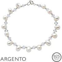 Argento Pearl Crystal Bracelet