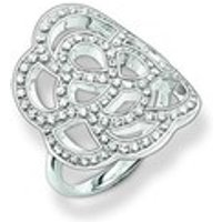 Thomas Sabo White and Silver Ring - Ring Size 58