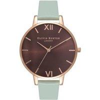 Olivia Burton Brown Big Dial Mint & Rose Gold Watch