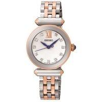 Seiko Silver & Rose Gold Watch - 000