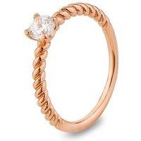 Argento Rose Gold Crystal Stacking Ring - K Ladies Ring