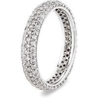 Argento Silver Pave Band Stacking Ring - K Ladies Ring