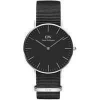Daniel Wellington Classic Black Cornwall 36mm Silver Watch - Silver