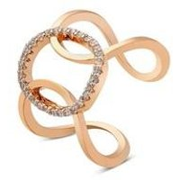 August Woods Rose Gold Linked Circle Ring - M Ladies Ring