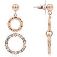 August Woods Rose Gold Circle Drop Earrings