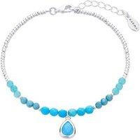 Karma December Beaded Bracelet - Silver