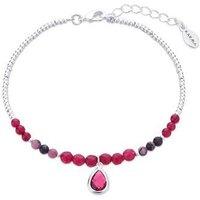 Karma July Birthstone Beaded Bracelet - Silver