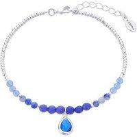 Karma September Birthstone Beaded Bracelet - Silver