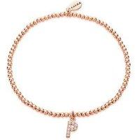 Karma Rose Gold Letter P Bracelet