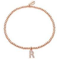 Karma Rose Gold Letter R Bracelet