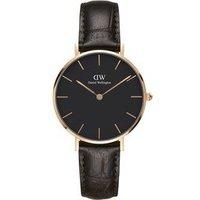 Daniel Wellington Classic Petite York Black & Rose Gold Watch