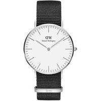 Daniel Wellington Classic Cornwall 36mm Silver & Black NATO Watch