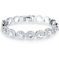 August Woods Silver Crystal Small Circle Link Bracelet