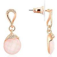August Woods Pink Moonstone Drop Earrings